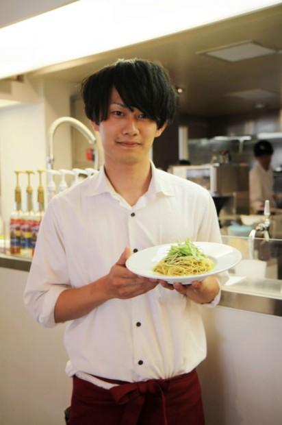京しば漬けと水菜のペペロンチーノ